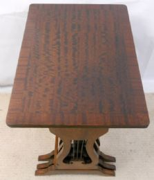 Mahogany Nest of Three Coffee Tables with Lyre Sides
